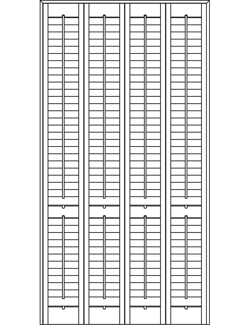 Full height door shutters