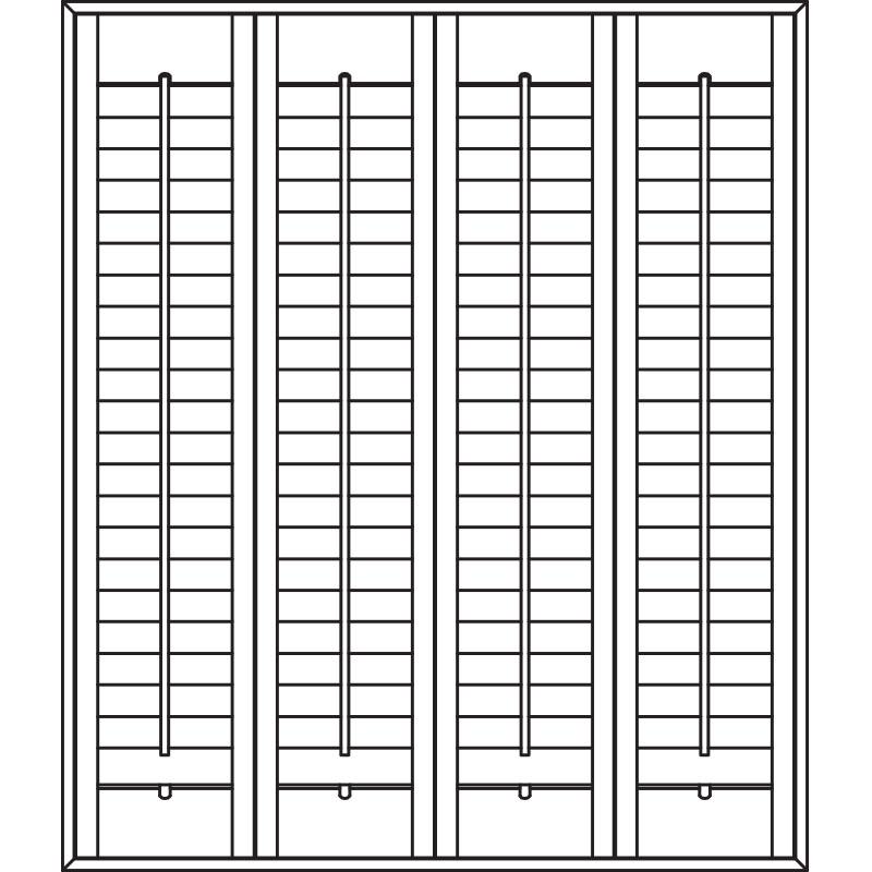 Full height plantation shutters
