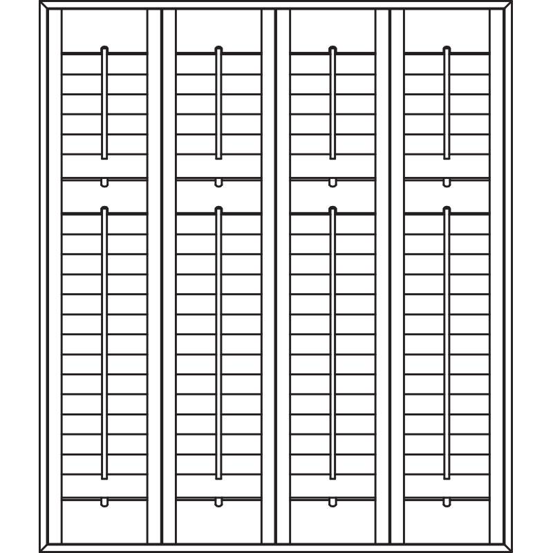 Full height plantation shutters midrail
