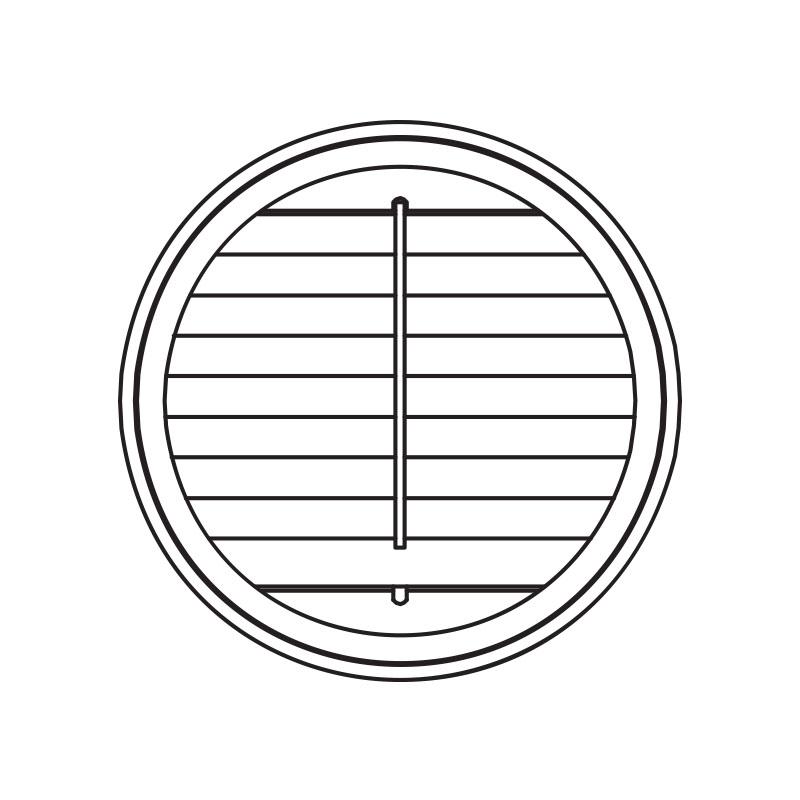 Circle push rod shutters