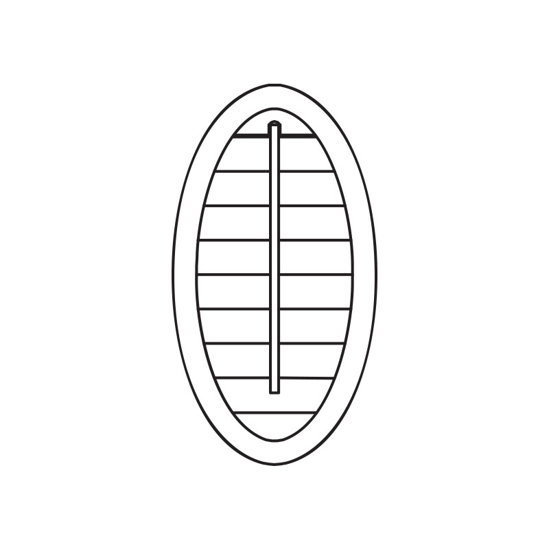 oval plantation shutters