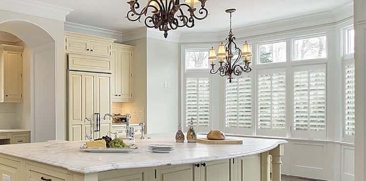 Kitchen Plantation Shutters (Wooden Kitchen Window Shutters) | Cool Shutters