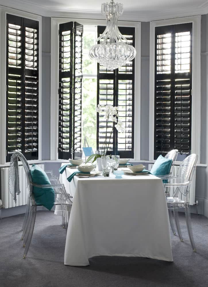 Bay window plantation shutters wood bay window shutters Are plantation shutters still in style 2017