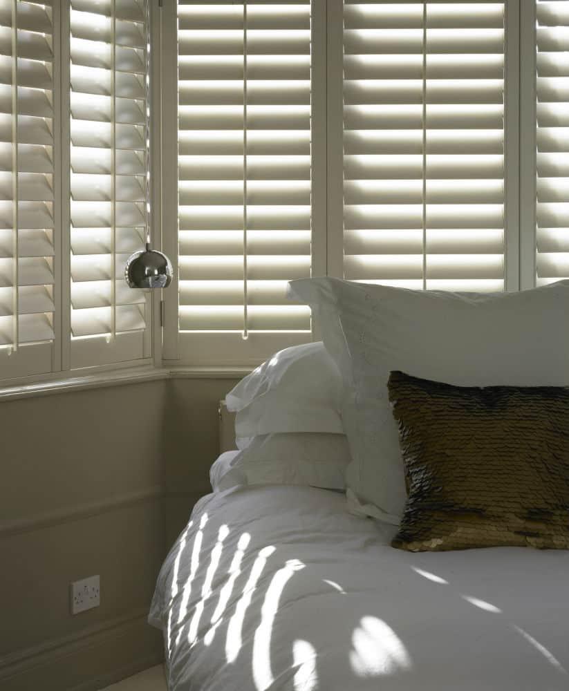 bedroom plantation blinds