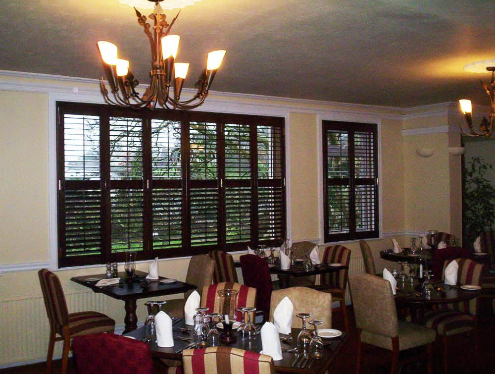 black walnut shutters