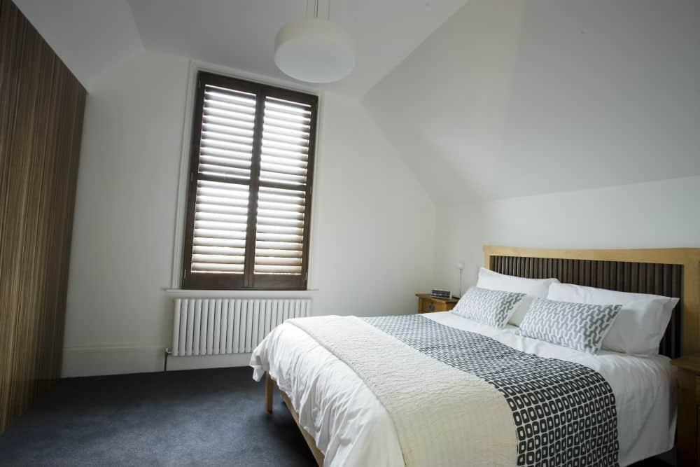 dark bedroom shutters