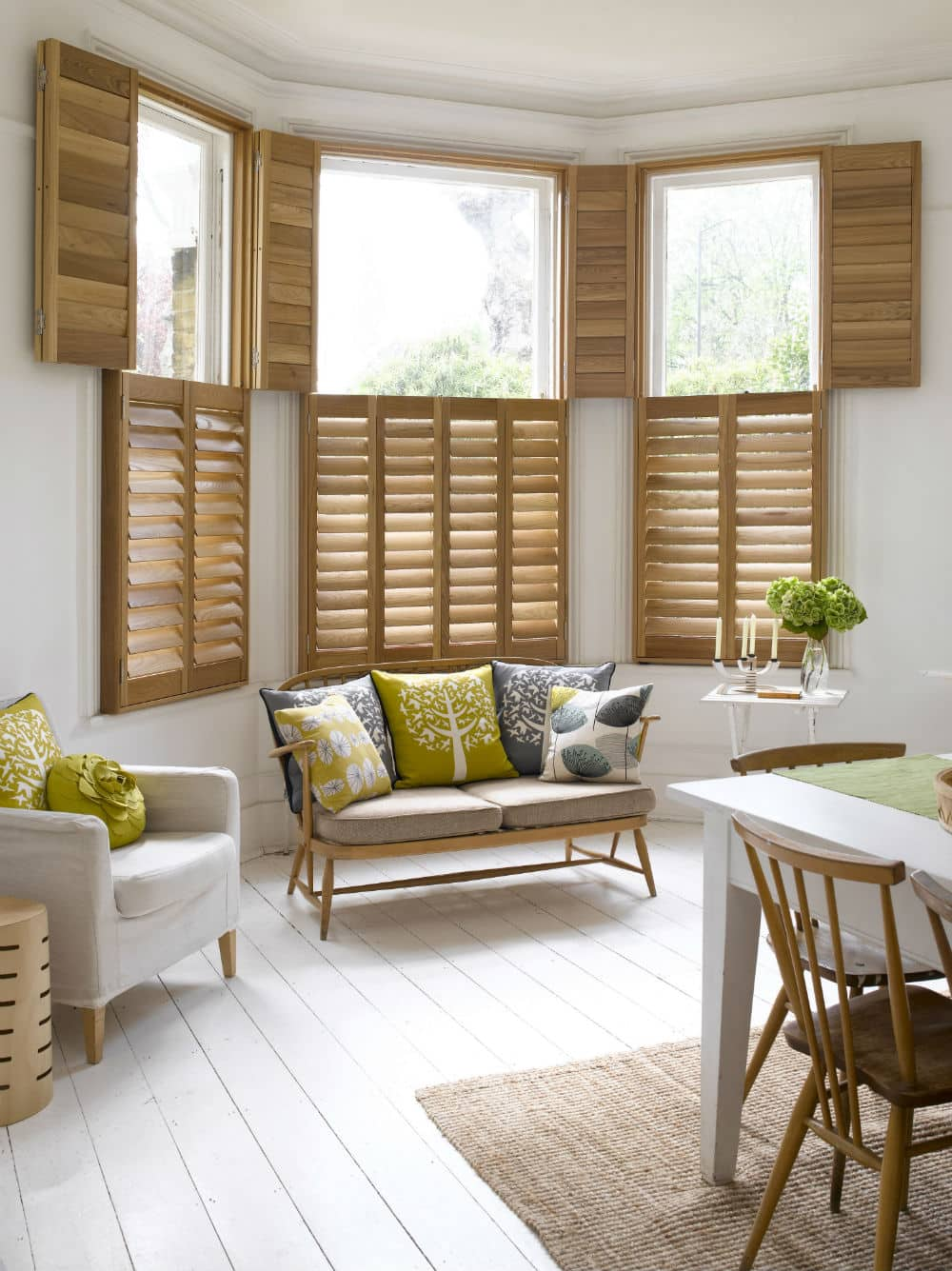 natural wood shutters