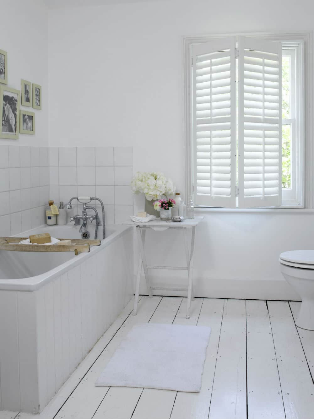 white elm wood shutters