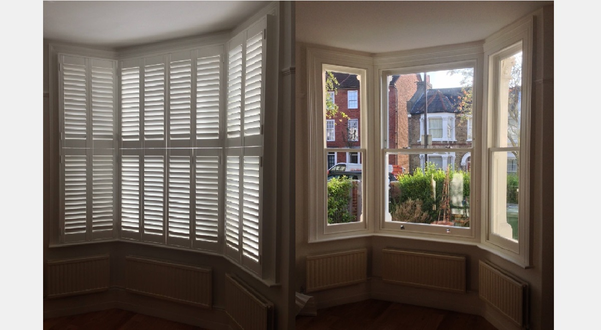 Teir on Teir Plantation Shutters Before and After