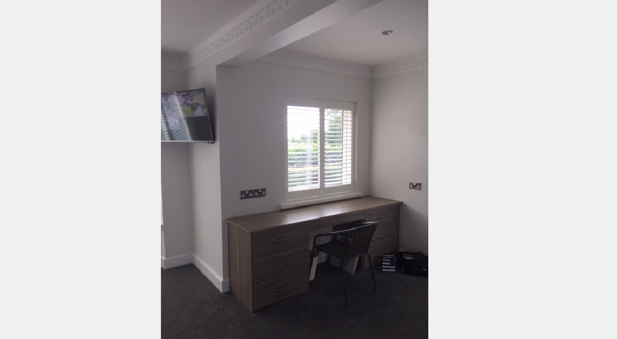Full Height Plantation Shutters office