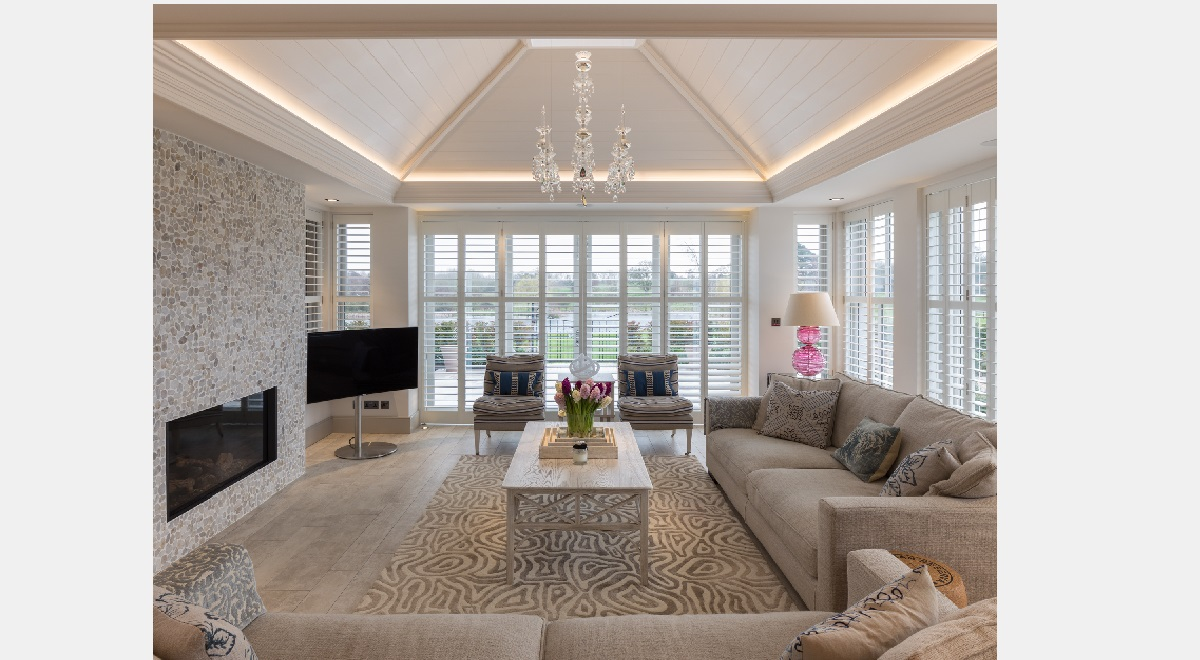 Full Height Tracked Wooden Plantation Shutters