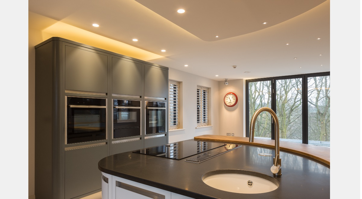 Full Height Wooden Plantation Shutters Kitchen