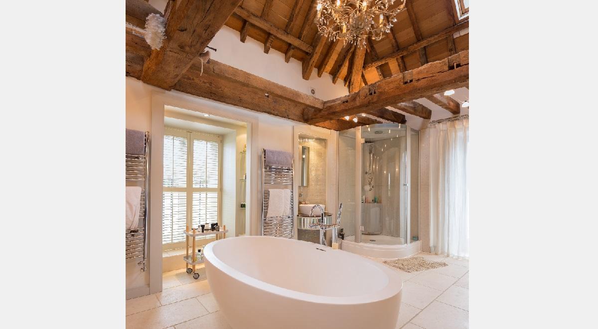 Full Height Plantation Shutters Bathroom
